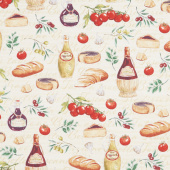 Bella Toscana - At the Tuscan Table Cream Yardage