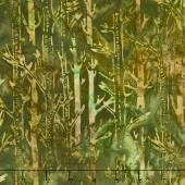 Artisan Batiks - Cornucopia 8 Tree Trunks Nature Yardage