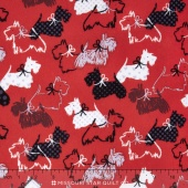 Scottie Love - Dottie Scottie Red Flannel Yardage