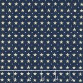 Star & Stripe Gatherings - Border Stars Blue Yardage