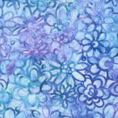 Artisan Batiks - Posies 4 Flowers Cornflower Yardage