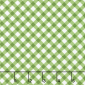 Greenery - Diagonal Check Green Yardage