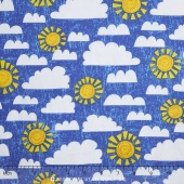 Dandy Dinos - Crackle Sky Dark Blue Yardage