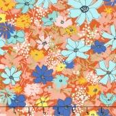 Wild Nectar - Cosmos Field Clementine Yardage