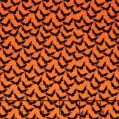 Trick or Treat - Treat Bats Orange Yardage