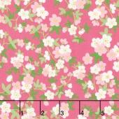 Safari Party - Safari Floral Pink with Sparkle Metallic Yardage