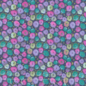 Night Riviera - Pop Floral Purple Yardage