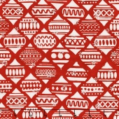 Artisan Batiks - Noel 5 Ornament Ogee Holiday Metallic Yardage