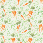 Country Road Market - Peas and Carrots Tan Yardage
