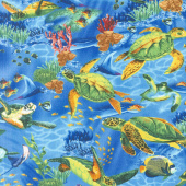 Animals - Seaturtles Ocean Yardage