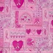 Pink Ribbon - Breast Cancer Pink Ribbon Pink Yardage