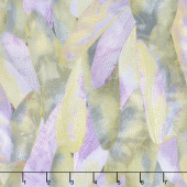 Dragonfly Dance - Purple Gilded Wings Lavender Gray Metallic Yardage