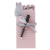 Cat Lady Notepad & Pen