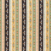 Bee Kind - Stripe Cream Multi Yardage