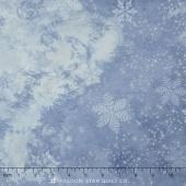 Sugar Plum - Starry Snowflake Periwinkle Metallic Yardage