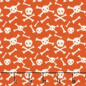 Cats, Bats and Jacks - Skulls Orange Yardage