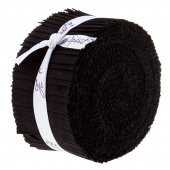 "Designer Essential Solids Black 2.5"" Strips"