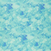 Make a Wish - Hydrangea Alcohol Ink Texture Turquoise Multi Digitally Printed Yardage