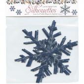 Blue Snowflake Silhouettes