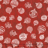Plaid for the Holidays - Ornament Toss Red Yardage