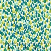 Zola - Teardrops Avocado Yardage
