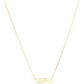 Quilter Bar Necklace - Gold