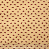 Little House on the Prairie - Mansfield Ditsy Tan Red Yardage