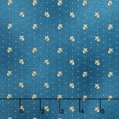 Liberty Hill - Daisy Dot Blue Yardage