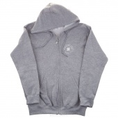 Make Something Today Medium Zip Hooded Jacket - Sports Gray