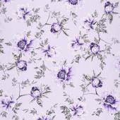 Violet Twilight - Twilight Floral Lilac Pearlized Yardage