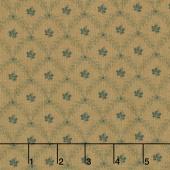 Grace's Garden 1820-1860 - Garden Maze Teal Tan Yardage