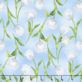 Garden Gathering - Tulips Blue Yardage