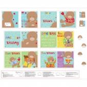 "Huggable & Lovable Books - ""Count My Kisses"" Multi Book Panel"