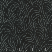 Black Beauty Batiks - Feather Black & Charcoal Yardage
