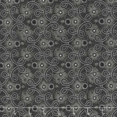 Blackwood Cottage - Pointillist Scroll Black Yardage