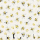 Bee My Sunshine - Queen Bee Cream Yardage