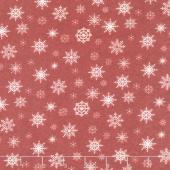Nordic Christmas - Snowflake Dark Red Yardage