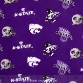 College - Kansas State University Tossed Allover Yardage