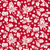 It's the Berries - Main Red Yardage