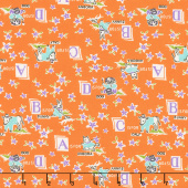 Aunt Grace Baskets of Scraps - Bunny Orange Yardage