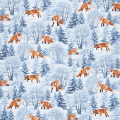Winter Hike - Winter Foxes Blue Yardage