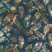 Desert Sun Batiks - Tossed Feather Light Dusk Yardage