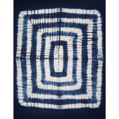 Kantha Labyrinth Indigo Throw