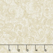 Butter Churn Basics - Small Paisley Cream Yardage