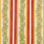 Winter's Grandeur 8 - Holiday Stripes Branch Metallic Yardage