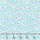 Badda Bing! - Everything Cherry Turquoise Yardage