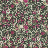 Garden Delights III - Hexagons Magenta Yardage
