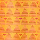 Stitched Batiks - Hive Chartreuse Yardage