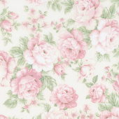 Eaton Place - Flowers Ivory Yardage