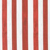 Live Free - Patriotic Stripe Red Yardage